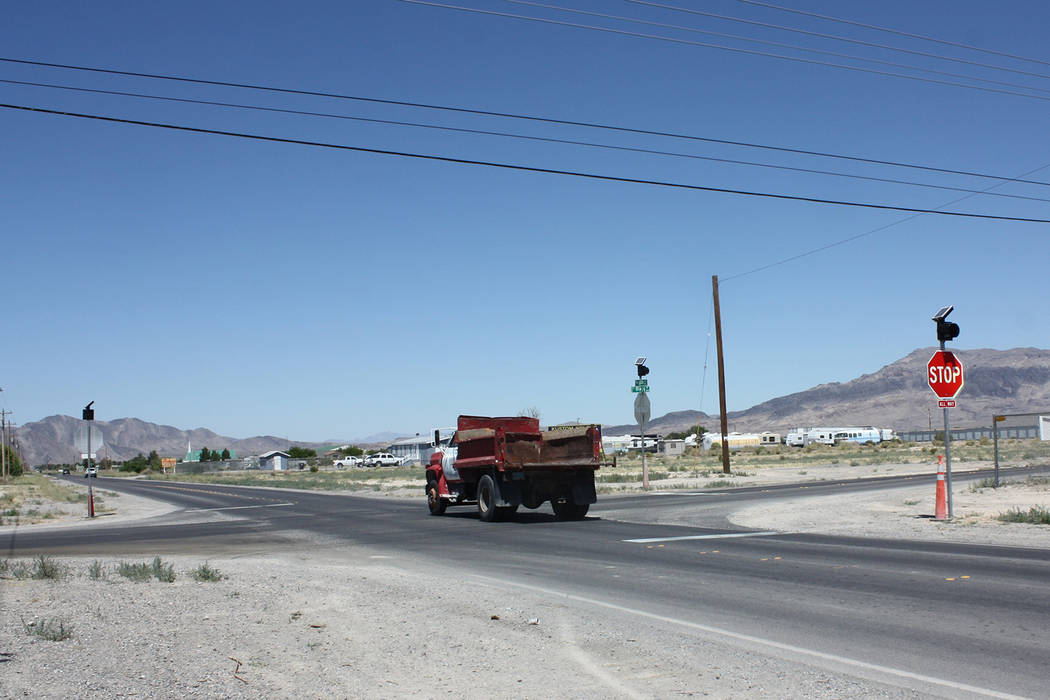 Robin Hebrock/Pahrump Valley Times Mesquite Avenue at the intersection of Blagg Road, pictured ...