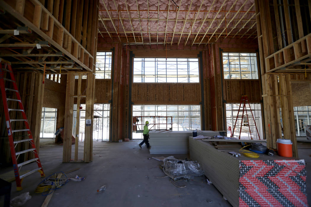 The clubhouse area under construction at the 365-unit Elysian apartment complex on the southeas ...