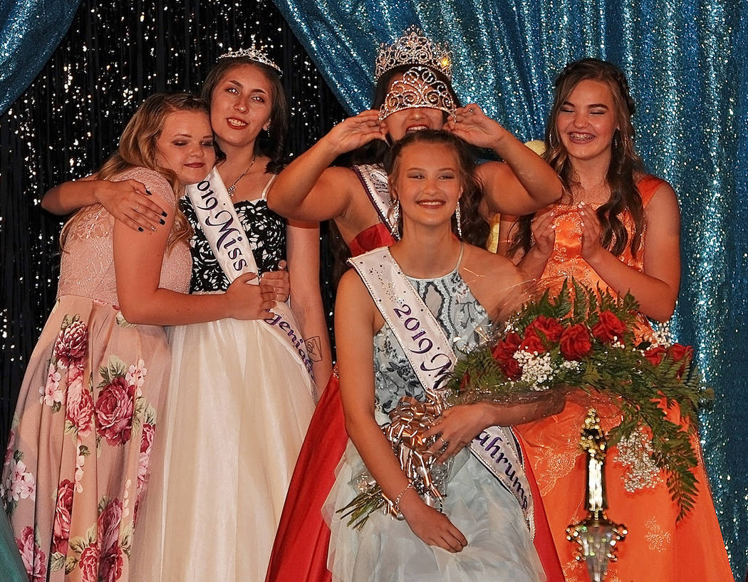 Horace Langford Jr./Pahrump Valley Times Aliya Bolton is crowned as the 2019 Miss Pahrump, cour ...
