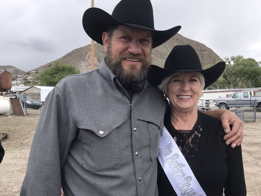 Jeffrey Meehan/Times-Bonanza & Goldfield News Oz Wichman and Nye County Commissioner Lorinda Wi ...