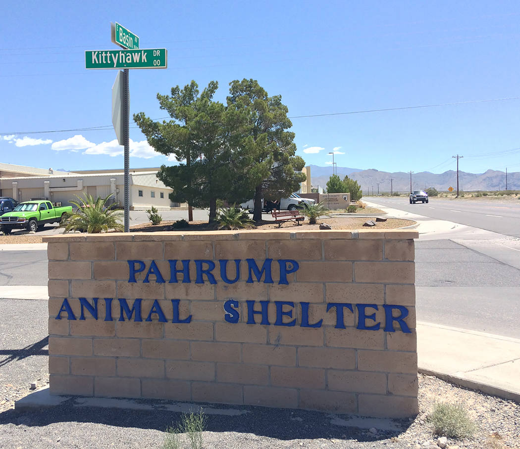Robin Hebrock/Pahrump Valley Times The Pahrump Animal Shelter is located at 1511 Siri Lane just ...