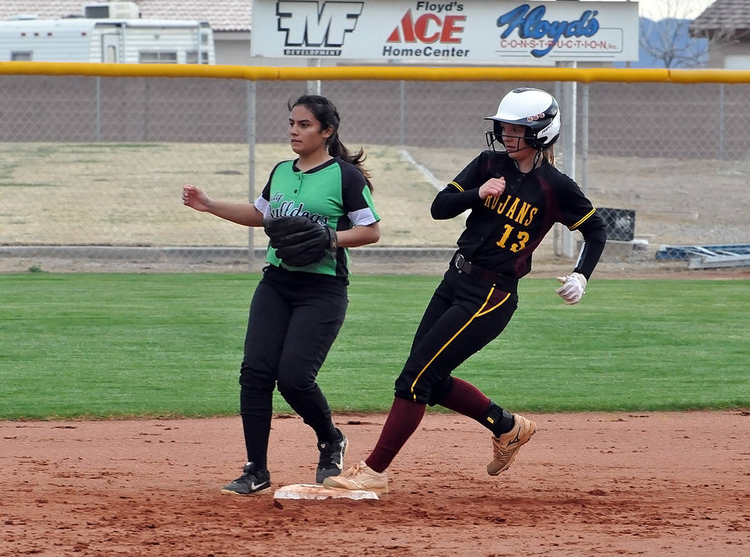 Horace Langford Jr./Pahrump Valley Times Jackie Stobbe, who hit .484 with 40 RBIs as a senior a ...