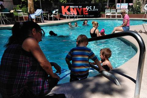 Selwyn Harris/Pahrump Valley Times Local residents of all ages turned out for the 20th annivers ...