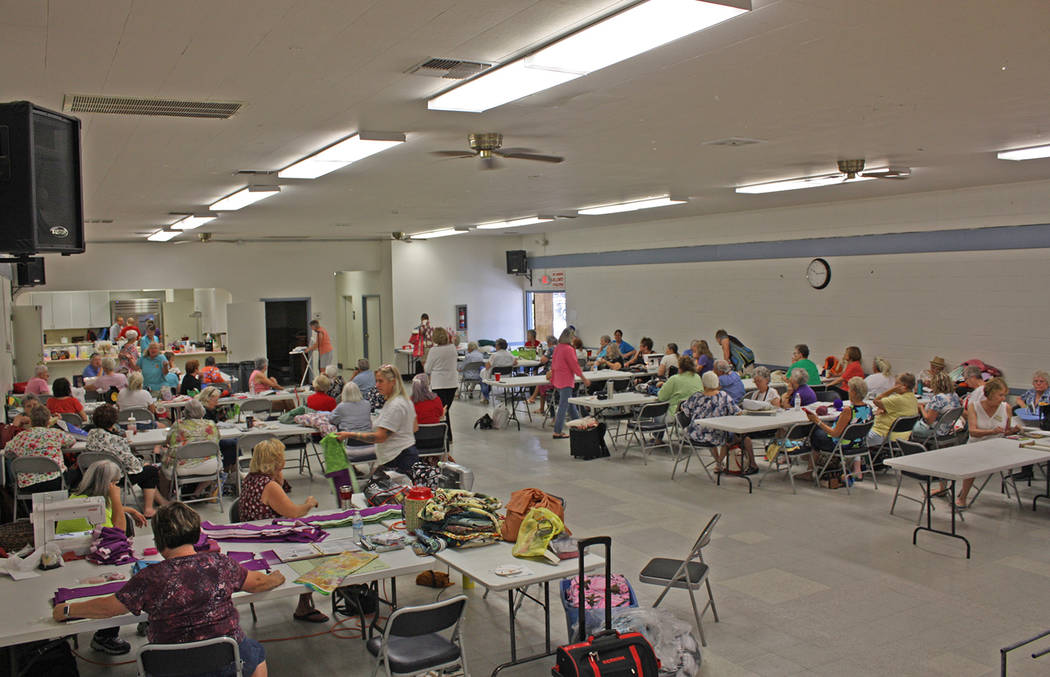Robin Hebrock/Pahrump Valley Times The Bob Ruud Community Center was filled with Shadow Mountai ...