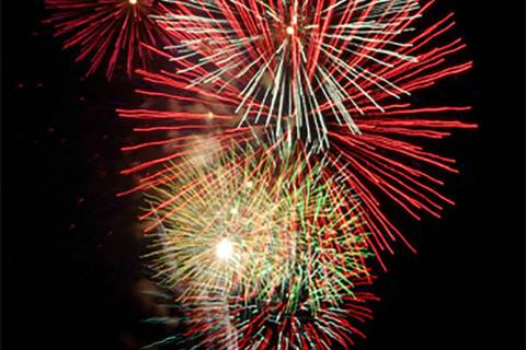 Horace Langford Jr./Pahrump Valley Times The annual Independence Day fireworks show in Pahrump ...