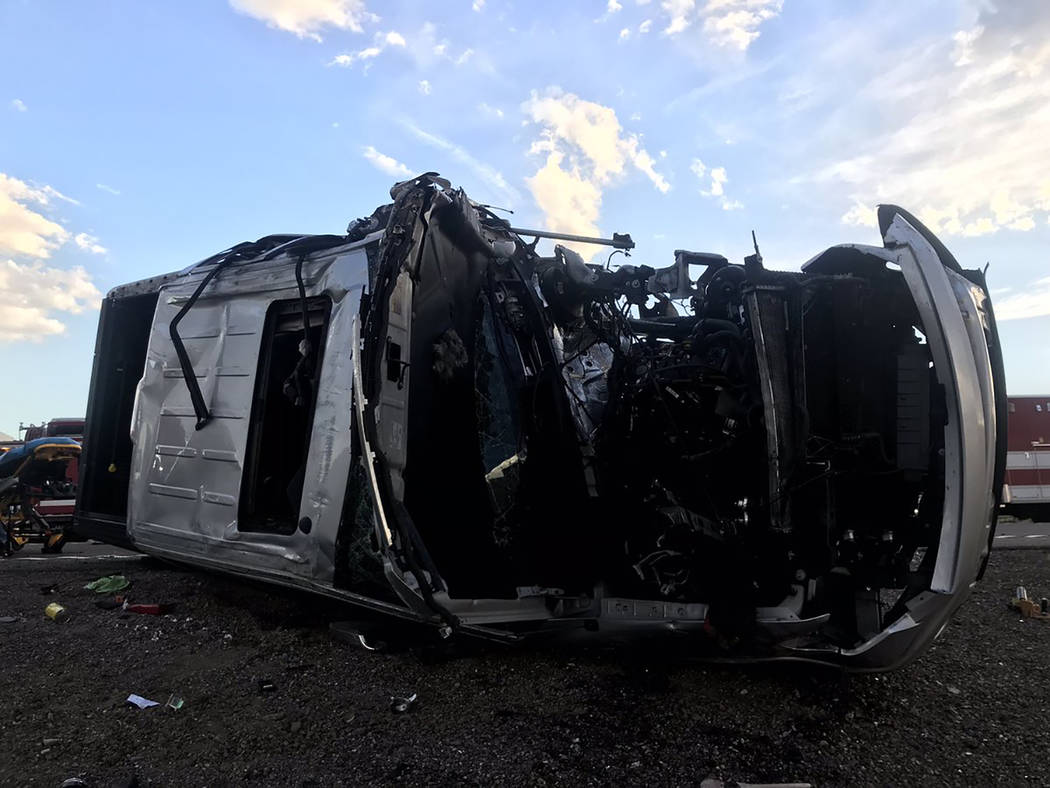 Nevada Highway Patrol The crash was reported about 6:32 p.m. in Esmeralda County about 50 miles ...