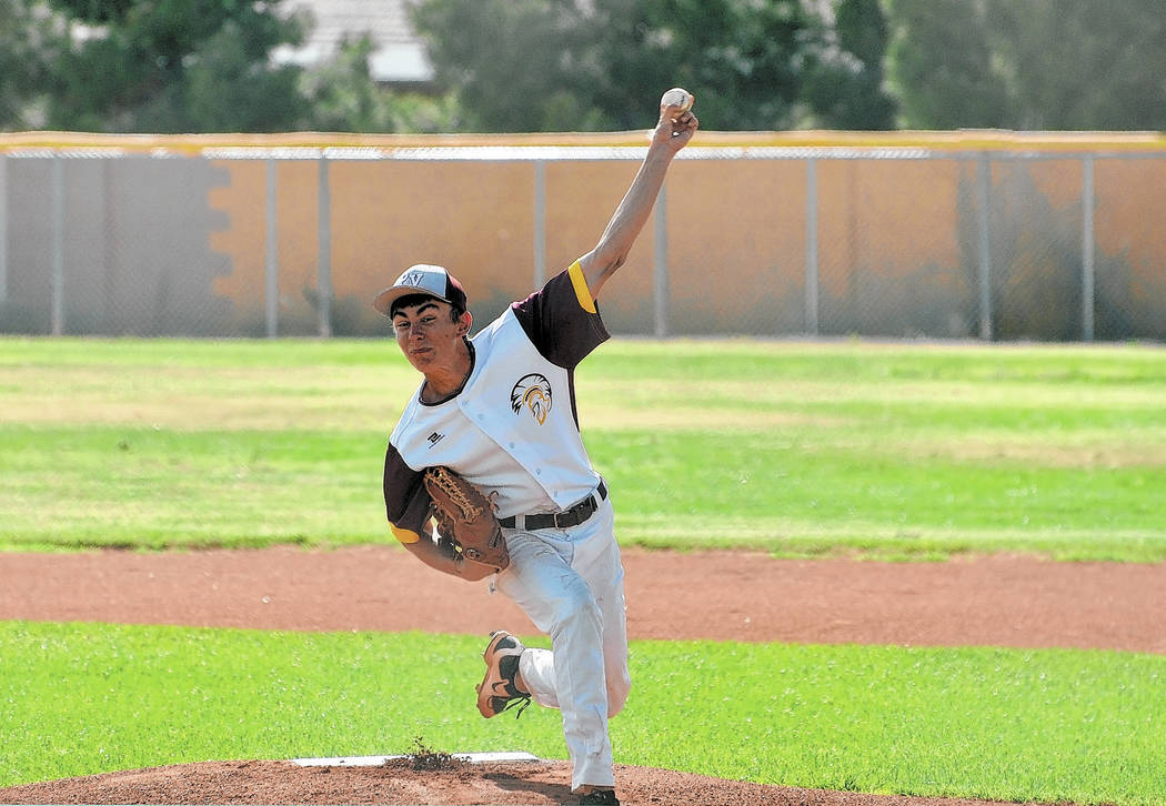 Horace Langford Jr./Pahrump Valley Times Garrett Lucas delivers against Cheyenne during his sen ...