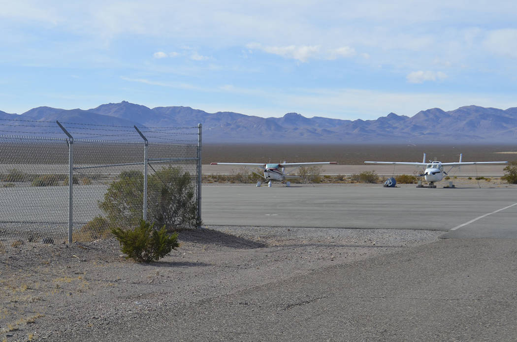 Daria Sokolova/Special to the Pahrump Valley Times Two airports in Nye County were awarded over ...
