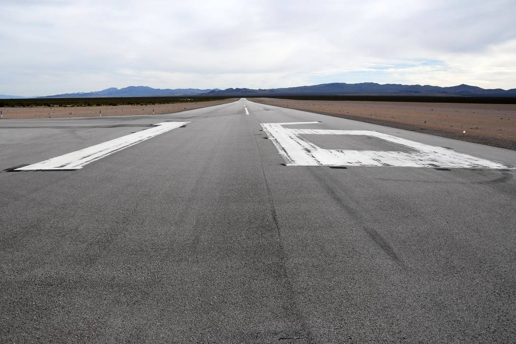 Richard Stephens/Special to the Pahrump Valley Times The Beatty Airport is set to get federal d ...
