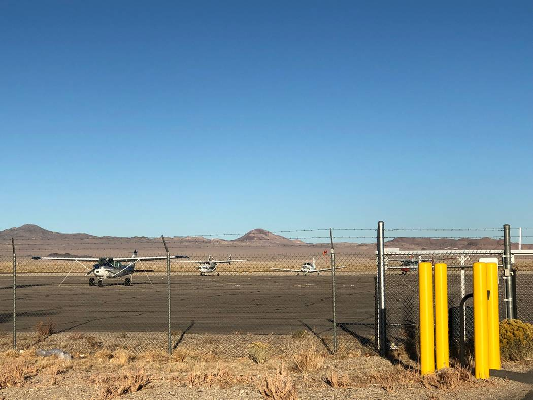 Daria Sokolova/Special to the Pahrump Valley Times The Tonopah Airport was awarded $469,687 in ...