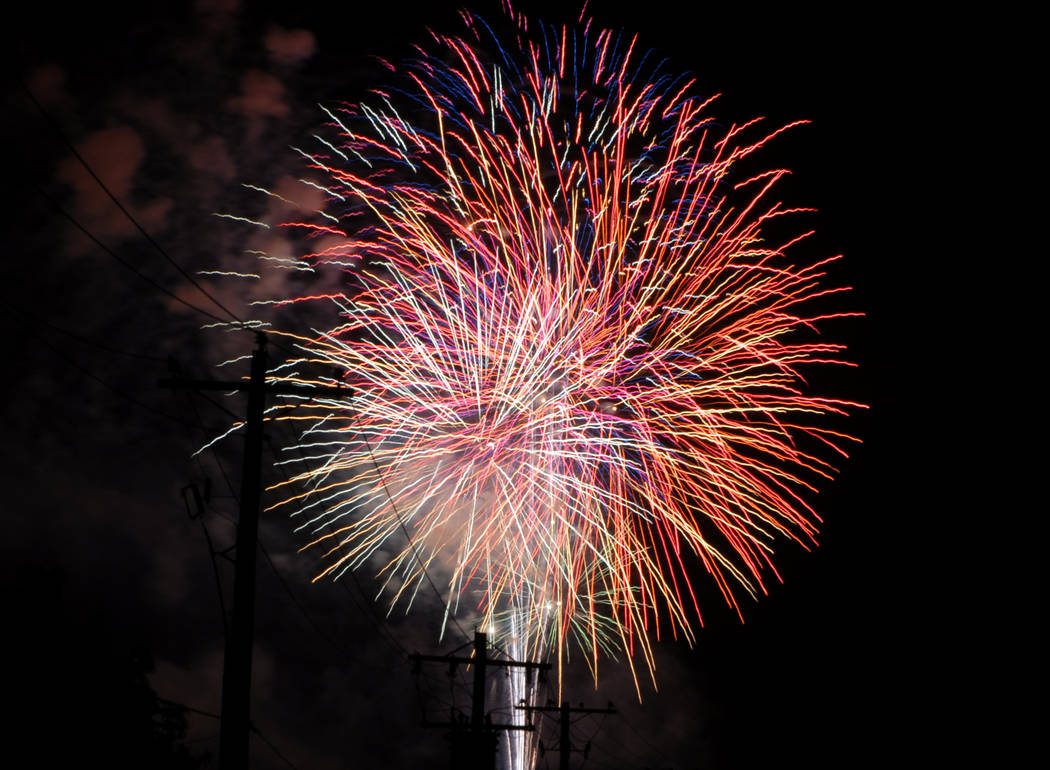 Horace Langford Jr./Pahrump Valley Times Fireworks are planned for sites around the region on J ...