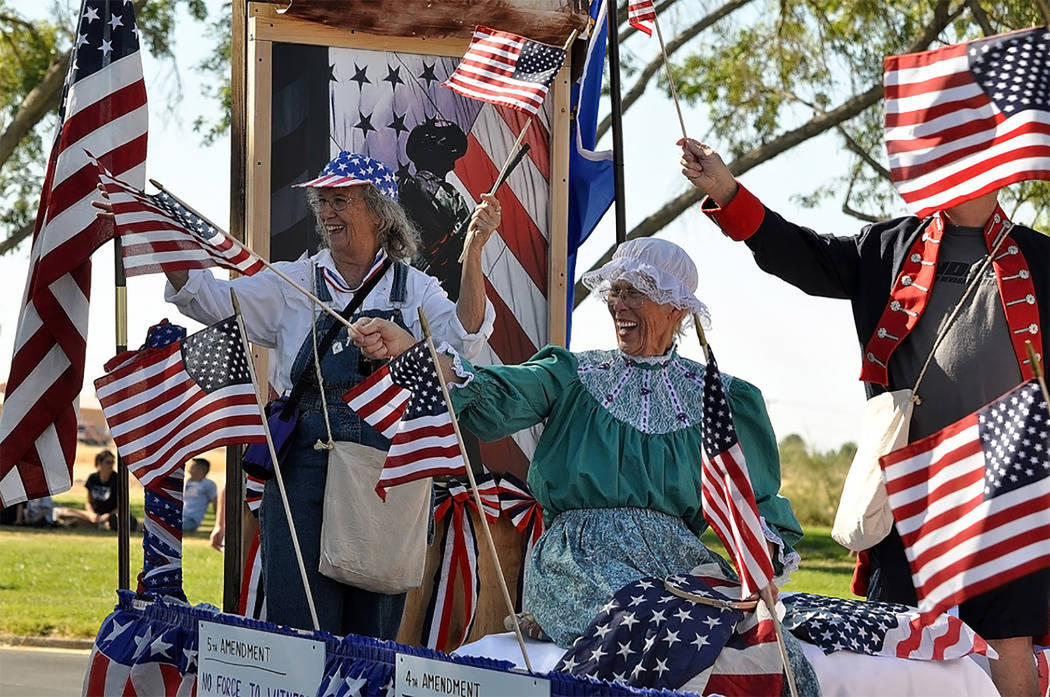 Horace Langford Jr./Pahrump Valley Times Pahrump's Fourth of July parade is scheduled to star ...