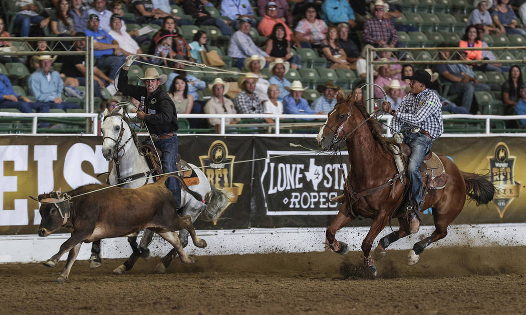 Olie's Images/Special to the Pahrump Valley Times Junior Dees and Lane Siggins won the richest ...