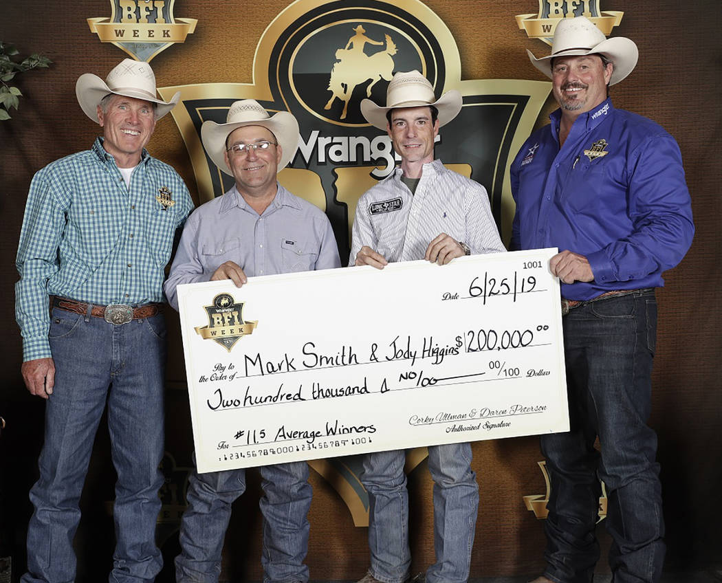 Olie's Images/Special to the Pahrump Valley Times Jody Higgins, second from left, and Mark Smit ...
