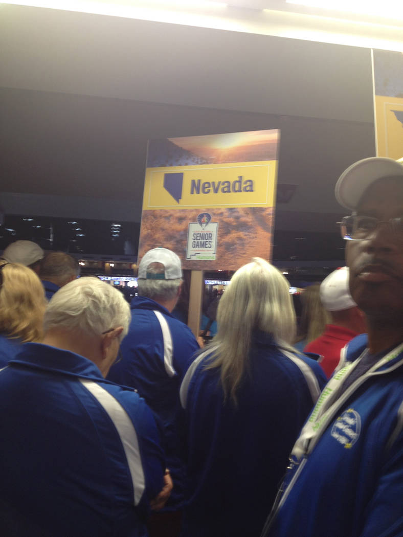 Special to the Pahrump Valley Times Nevada's athletes prepare to march into Dreamstyle Stadium ...
