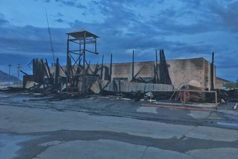 James Attebury/Special to the Pahrump Valley Times This photo shows the scene in the aftermath ...