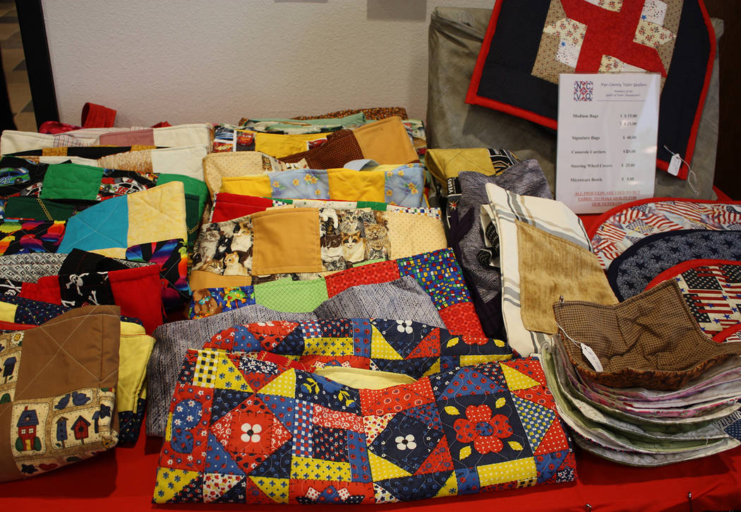 Robin Hebrock/Pahrump Valley Times The Nye County Valor Quilters is a nonprofit organization th ...