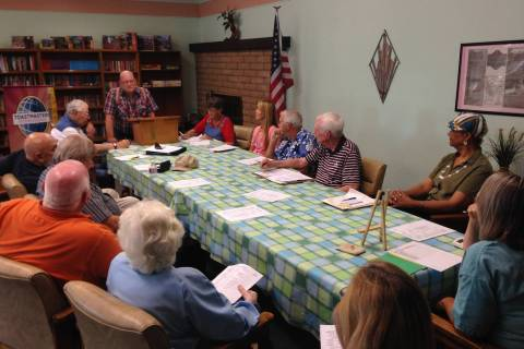 Special to Pahrump Valley Times This file photo shows the Pahrump's Toastmasters at a group ...