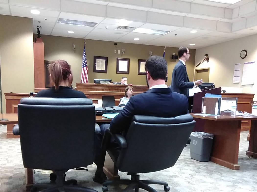 Selwyn Harris/Pahrump Valley Times Nye County Deputy District Attorney Michael Vieta-Kabell, (a ...