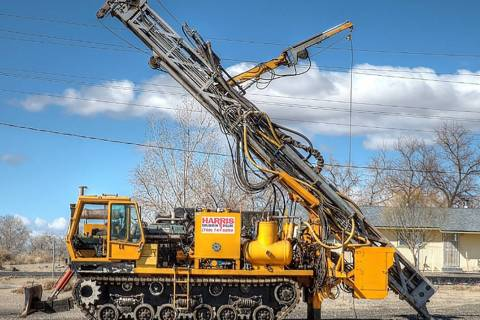 Photo courtesy of Barrian Mining Corp. This photo shows as an actual Schramm T685 Track Drill t ...