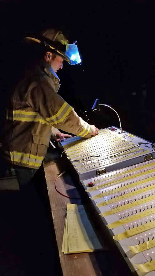Deanna O'Brien/Special to the Pahrump Valley Times Zambelli Fireworks pyrotechnician Eddie O'Br ...