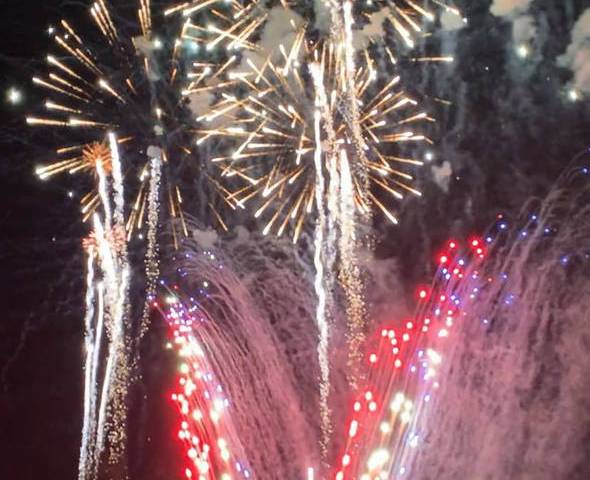 Ryan Muccio/Special to the Pahrump Valley Times The town of Pahrump's annual Fireworks Show lit ...