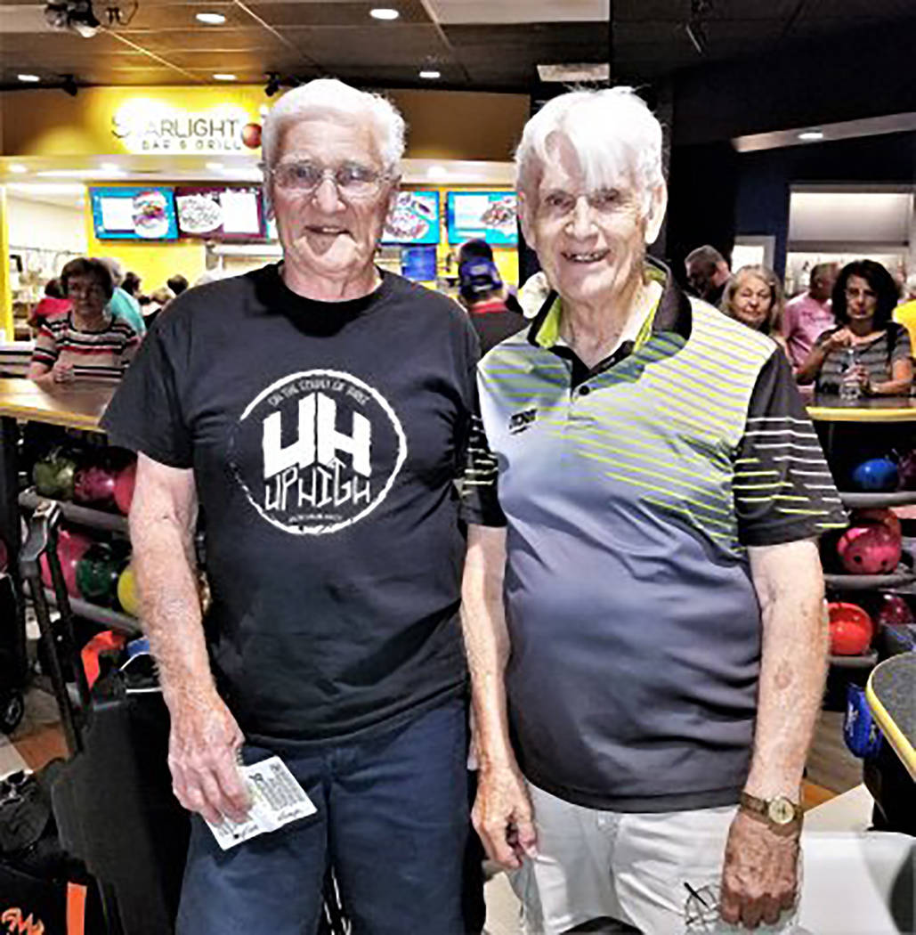 Special to the Pahrump Valley Times David and Randy Gulley teamed up to win a silver medal in m ...