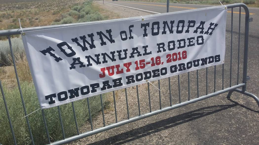 David Jacobs/Tonopah Times-Bonanza Smackdown Rodeo welcome sign at the July 16, 2016 event. The ...
