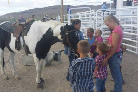 David Jacobs/Tonopah Times-Bonanza Children's events at the July 16, 2016 Smackdown Rodeo in To ...