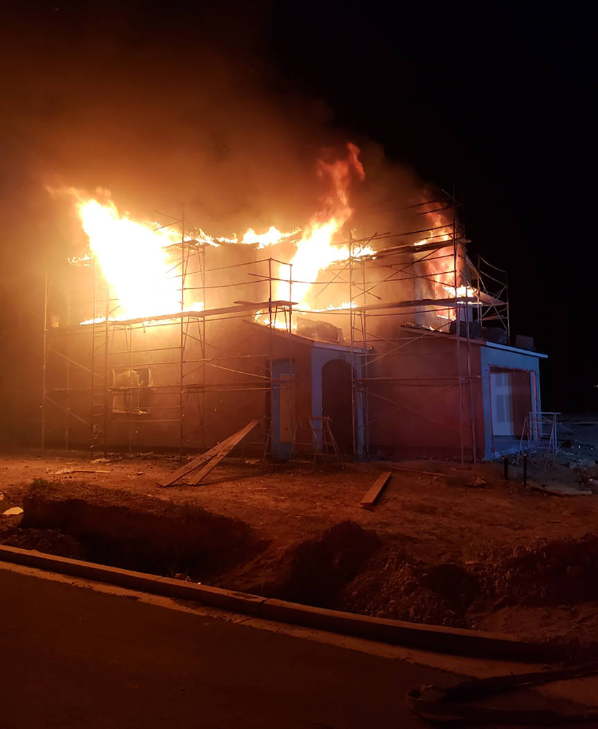 Special to the Pahrump Valley Times Pahrump Fire crews were dispatched just after midnight on W ...