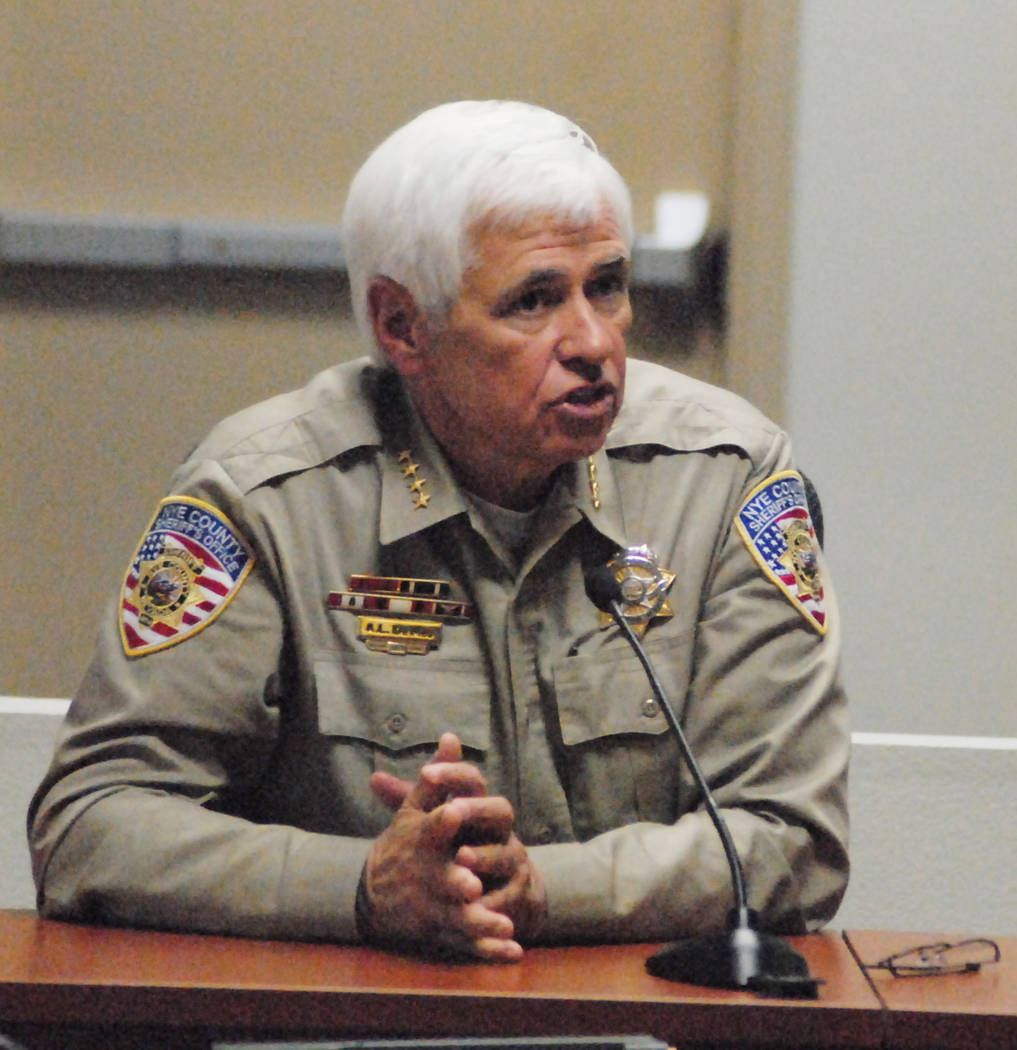 Horace Langford Jr./Pahrump Valley Times Nye County Sheriff Tony DeMeo as shown in a 2013 photo ...