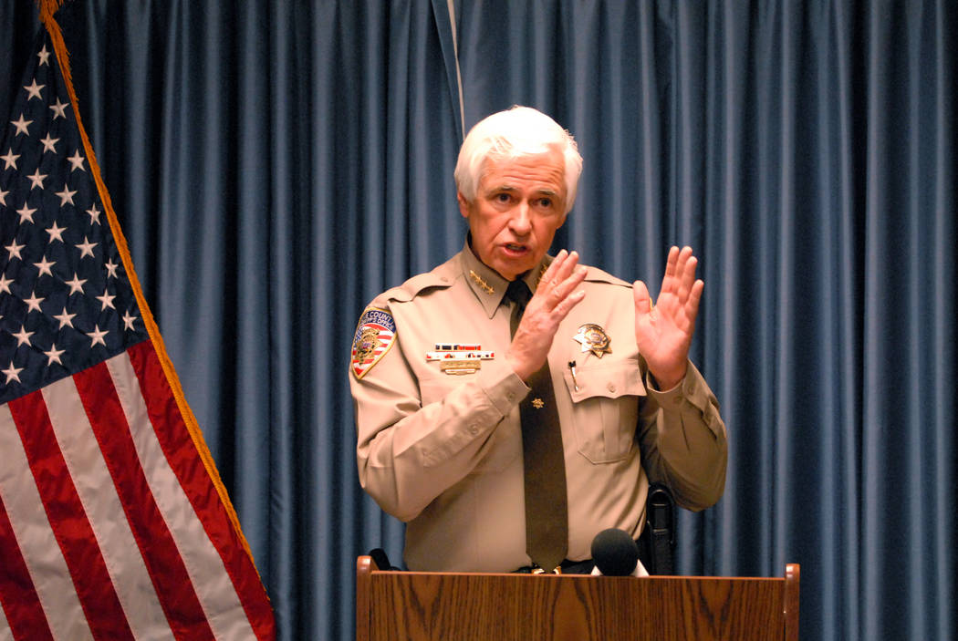 Horace Langford Jr./Pahrump Valley Times This 2014 file photo shows Sheriff Tony DeMeo at a new ...