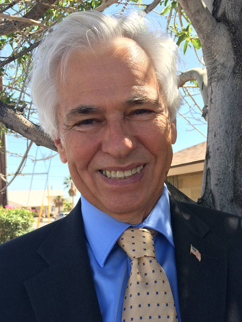 Robin Hebrock/Pahrump Valley Times Former Nye County Sheriff Tony DeMeo, shown posing for a 201 ...