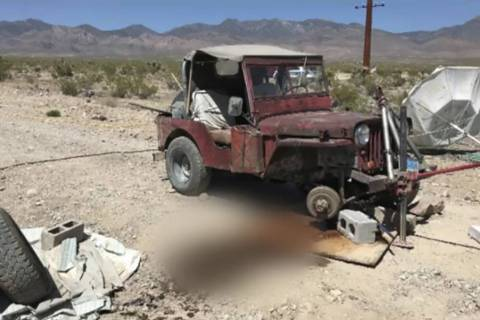 Screenshot/Nye County Sheriff's Office video The Nye County Sheriff's Office investigators beli ...