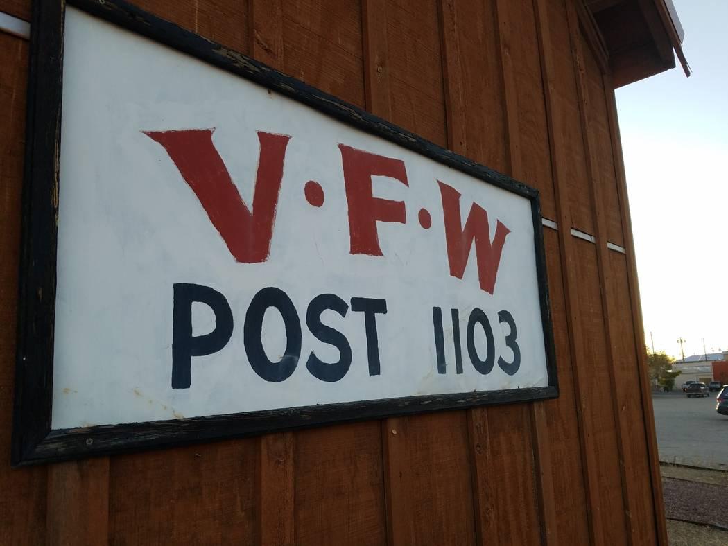 David Jacobs/Pahrump Valley Times The Veterans of Foreign Wars post in Tonopah as shown in a f ...