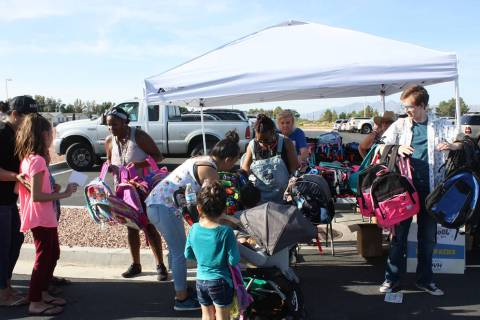 Robin Hebrock/Pahrump Valley Times This file photo of the 2018 Back to School Health Fair shows ...