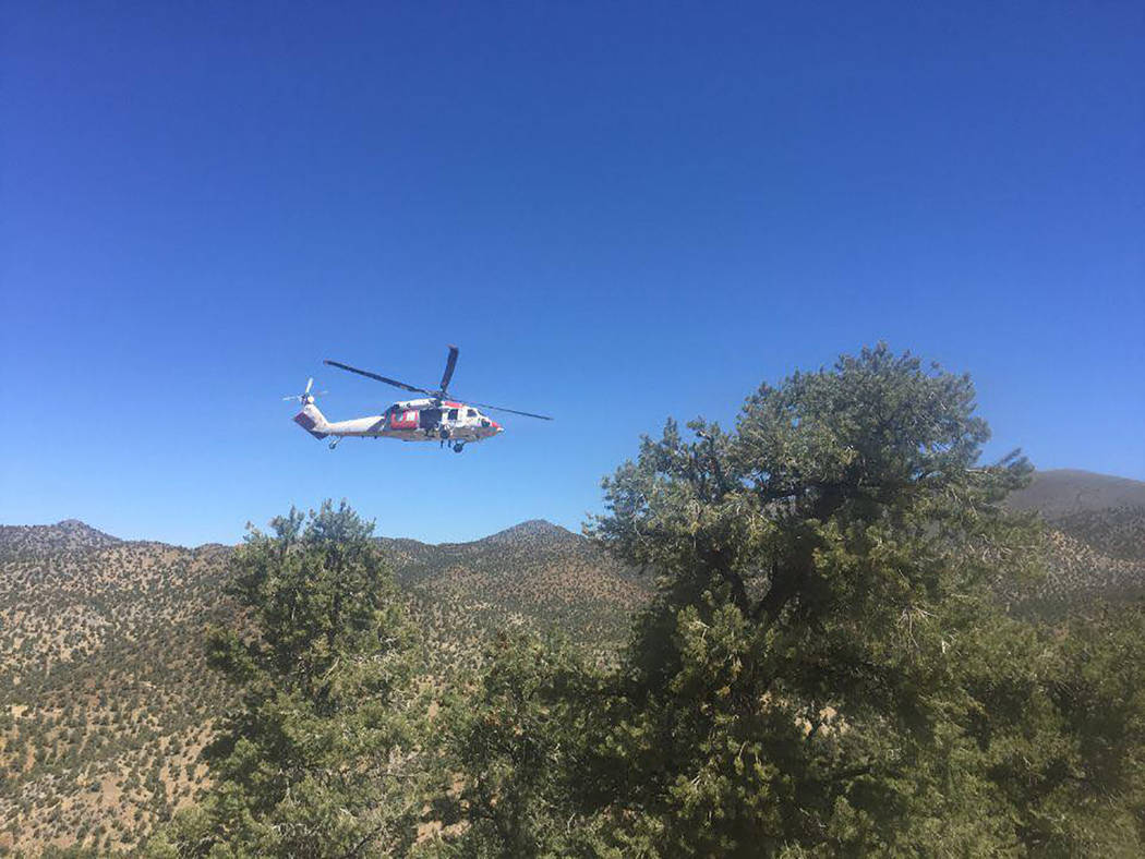 Inyo County Sheriff's Office/Facebook In addition to ground search teams, dog teams were deploy ...
