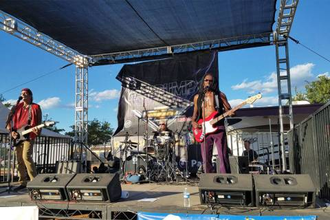David Jacobs/Pahrump Valley Times The Thirsty Babyz perform at the Pahrump Fall Festival in Pe ...