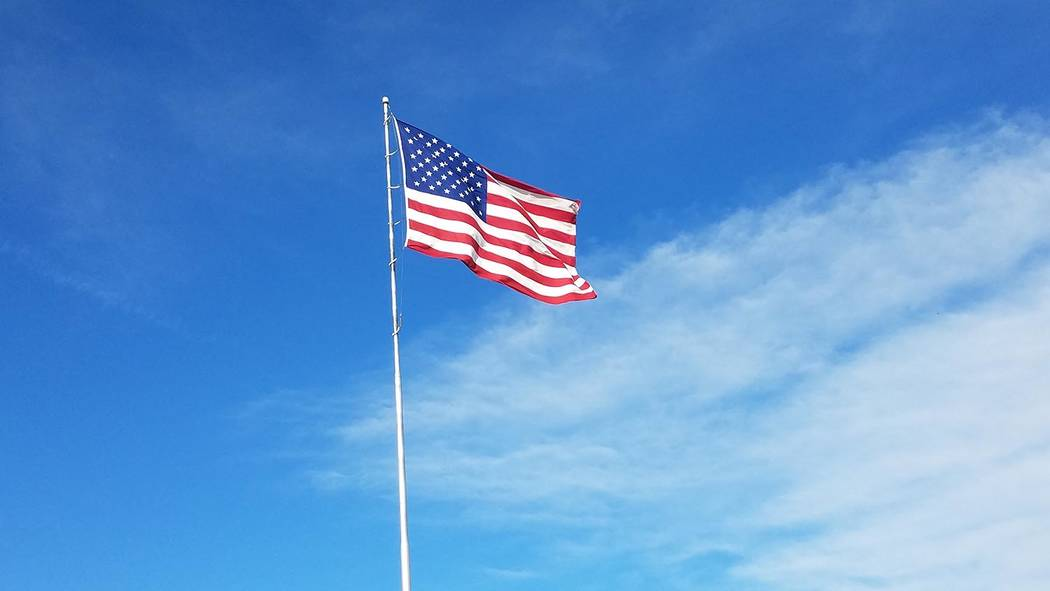 David Jacobs/Pahrump Valley Times The American flag in Pahrump