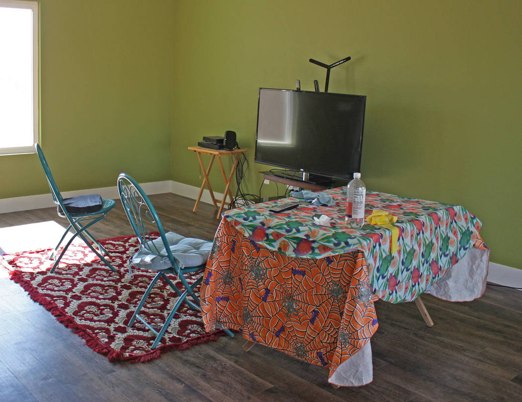 Robin Hebrock/Pahrump Valley Times Before the Rotary Club started moving items into her home, a ...