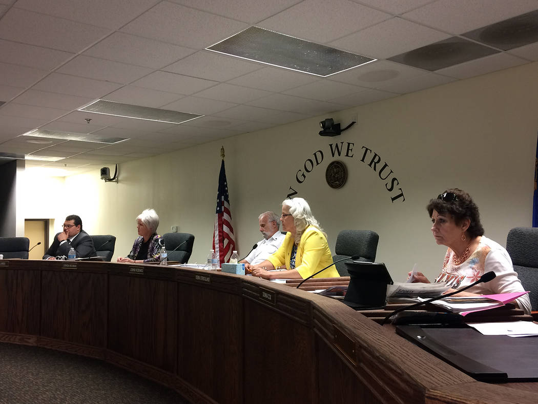 Robin Hebrock/Pahrump Valley Times The Nye County Commission recently voted 4-1 to approve a te ...