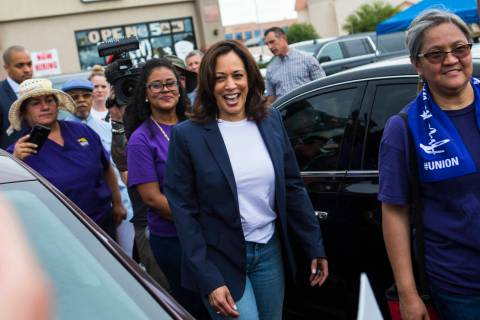 Chase Stevens/Las Vegas Review-Journal U.S. Sen. Kamala Harris, D-Calif., a Democratic presiden ...