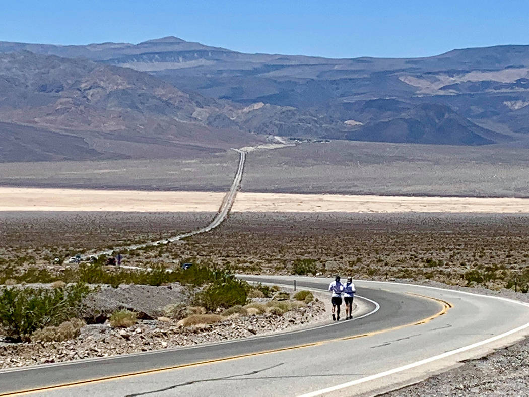 Kerstin Kent/Special to the Pahrump Valley Times The road stretches out seemingly forever to pa ...