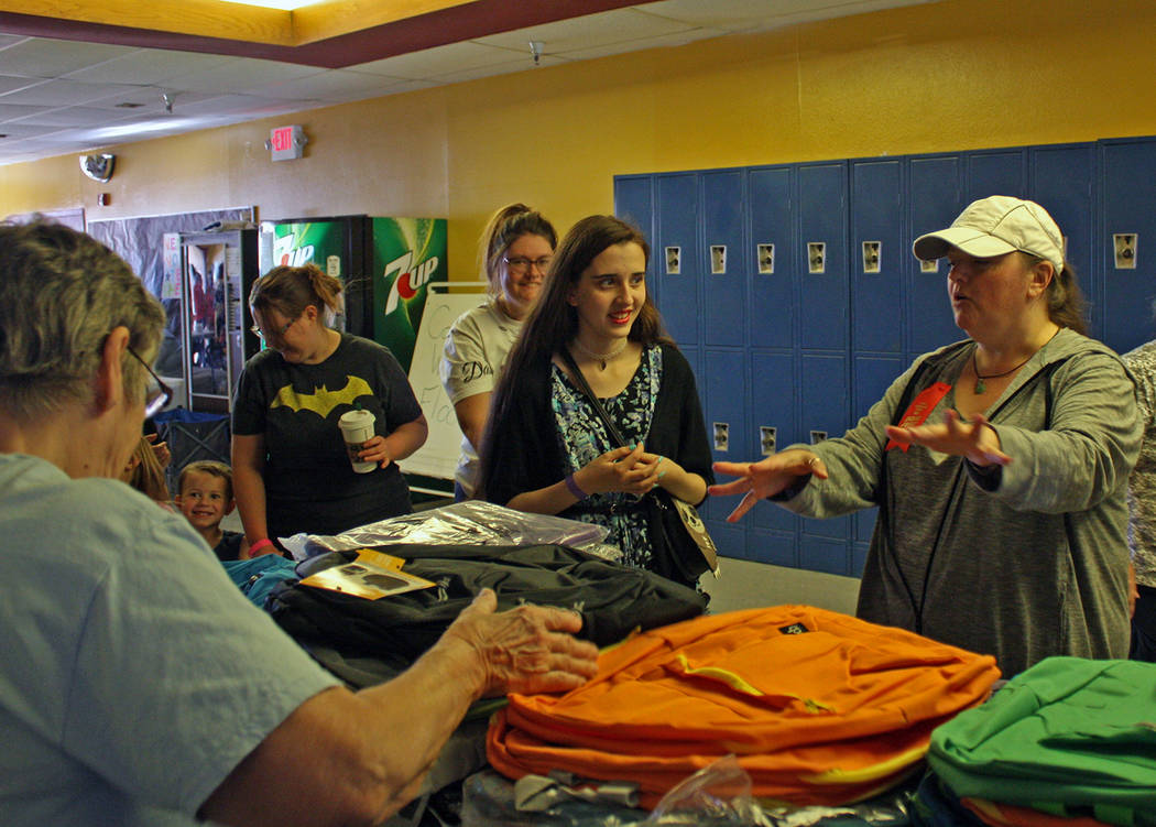 Robin Hebrock/Pahrump Valley Times Many volunteers at the Back to School Health Fair spent the ...