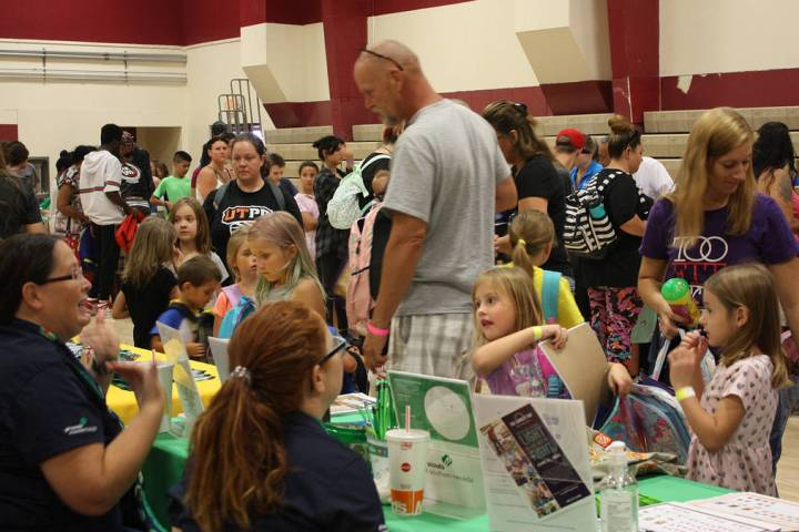 Robin Hebrock/Pahrump Valley Times The 2019 Back to School Health Fair took place Saturday, Jul ...