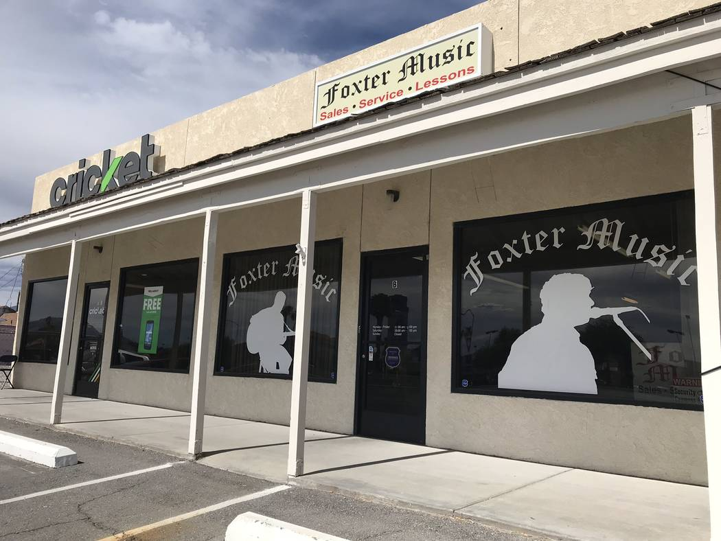 Jeffrey Meehan/Pahrump Valley Times Foxter Music, a Pahrump-based music store, and Cricket Wire ...