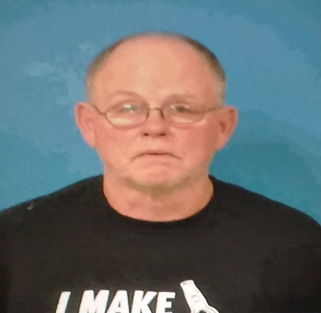 Photo courtesy of the Nye County Detention Center Thomas Baker is facing a charge of battery fo ...