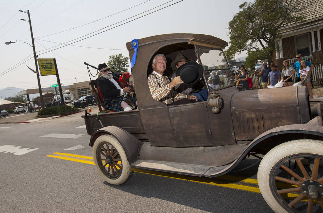 Chase Stevens Las Vegas Review-Journal John Ekman, parade grand marshall and Goldfield Historic ...