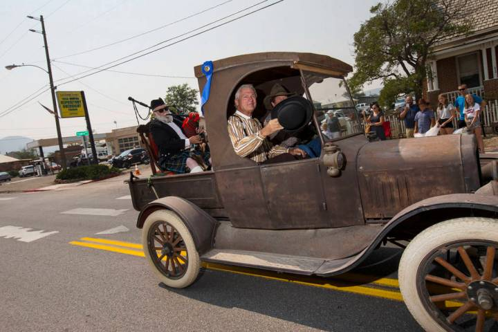 Chase Stevens Las Vegas Review-Journal John Ekman, parade grand marshall and Goldfield Historic ...
