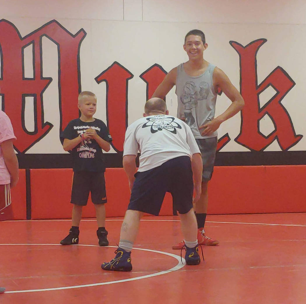 Duffy Otteson/Special to the Pahrump Valley Times Former world champion wrestler T.J. Hill size ...